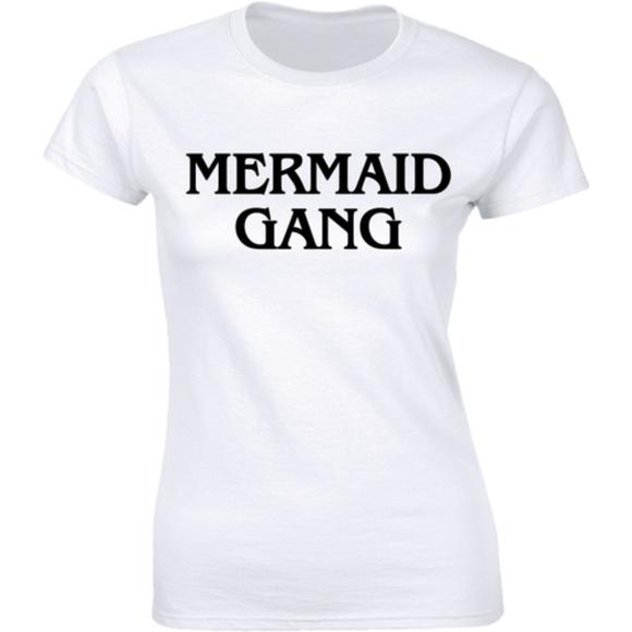 Half It Tops - Mermaid Gang Best Summer Beach Tee Women's T-shirt